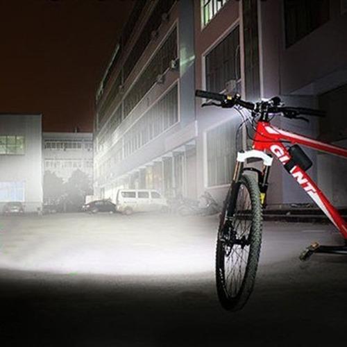 farol p/ bicicleta bike cree xml t6 autonomia + de  11hrs