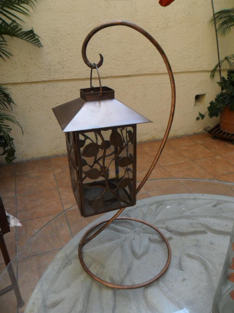 Farol p vela de lamina centro de mesas bodas bfn 390 for Farol exterior de pared