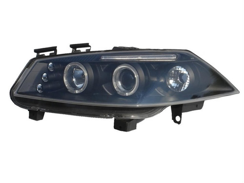 farol projector angel eyes led megane 06/12 13 mascara negra