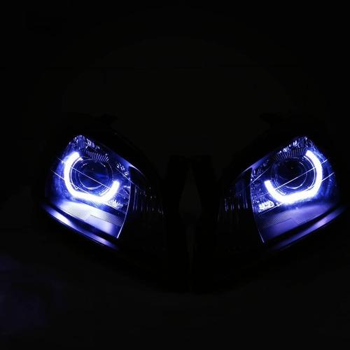 farol projetor 2,5''angel eyes modelo bmw sport versão 8.1