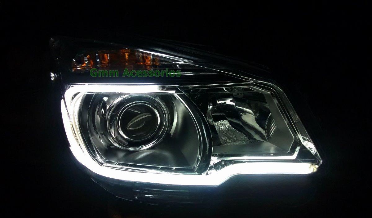 Farol S10 Leds Foco Duplo Chevrolet 2012 2013 2014 2015 2016 - R$ 599,49 em Mercado Livre