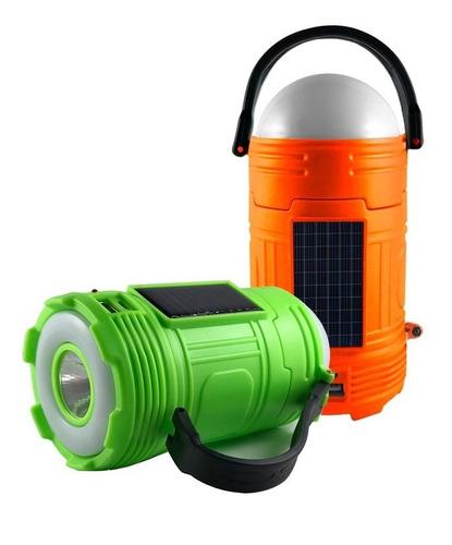 farol solar color premium linterna cargador celular camping