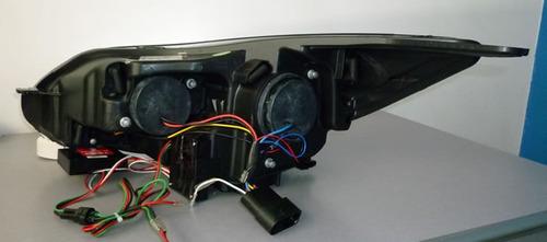 farol sonar função led ford focus 2014 a 2015 máscara negra