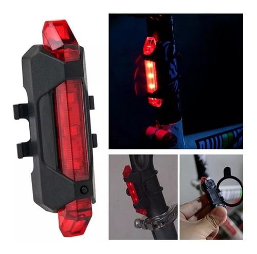 farol traseira lanterna luz leds sinalizador bike  usb. top