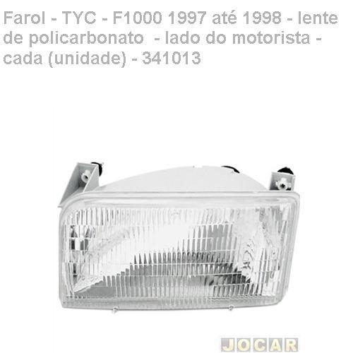 farol - tyc - f1000 1997/1998 - lente policarbonato - esq
