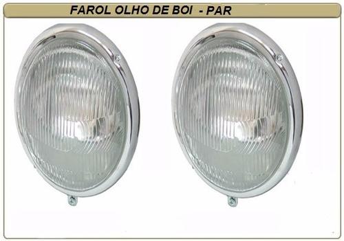 farol vw fusca olho de boi 63/72 kombi antiga  ferro - par