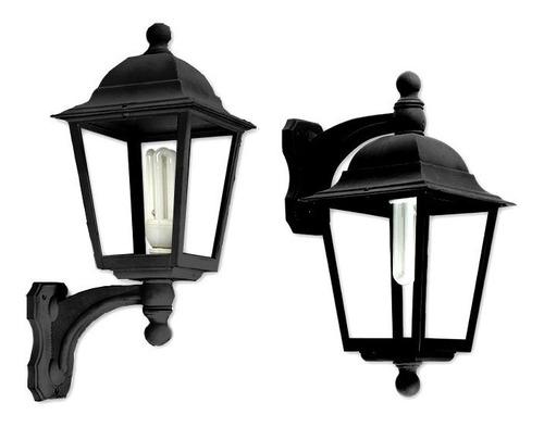 farola colgante lámpara faroles exterior pared negro blanco