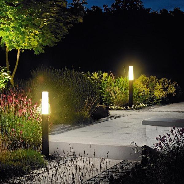 farola grande poste aluminio iluminacin jardn exterior - Iluminacion Jardin