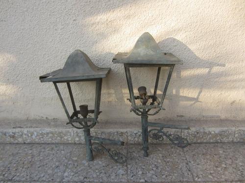 faroles antiguos de bronce