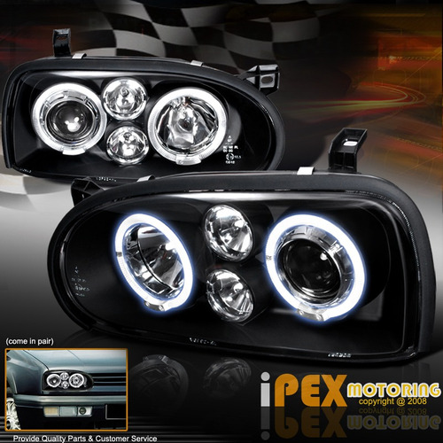 faros angel eyes vw golf mk3 93-98