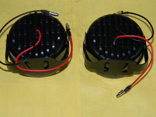 faros axiliares redondos led autos motos nautica // 1129