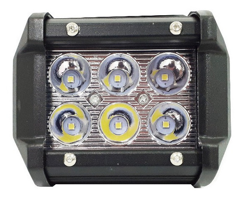 faros cree 6 led 4 pulgadas 18w color blanco y amarillo