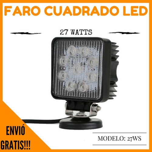 faros cuadrados led de 27 watts envio gratis