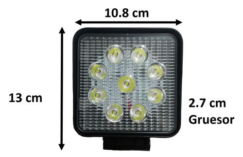 faros cuadrados par de 9 led de 3 watss cada uno.