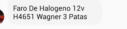 faros de halogenos 12v h4651 wagner 3 patas