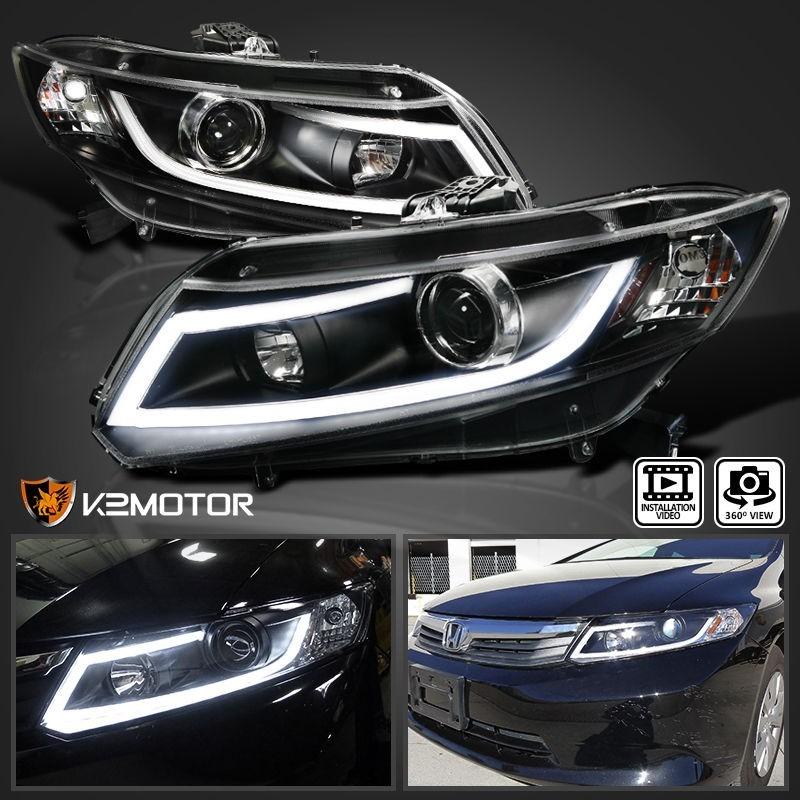 Faros De Lupa   Led Honda Civic 2012-2015 Nuevos