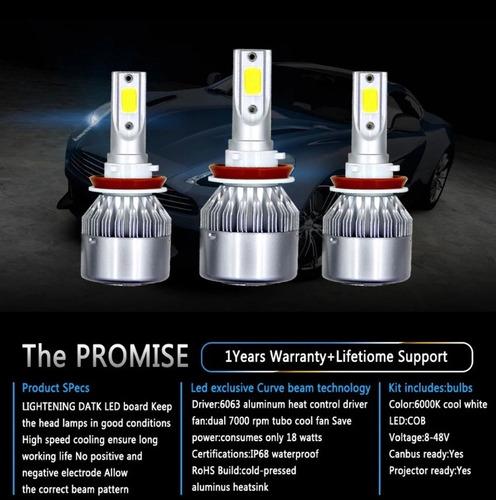 faros led c6 6000k luz blanca h7-h4-9004-9005-h1-h3-h13-9007