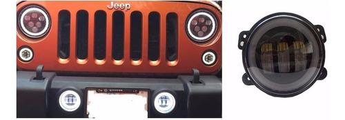 faros led niebla auxiliar jeep wrangler jk 2007-2018 defensa