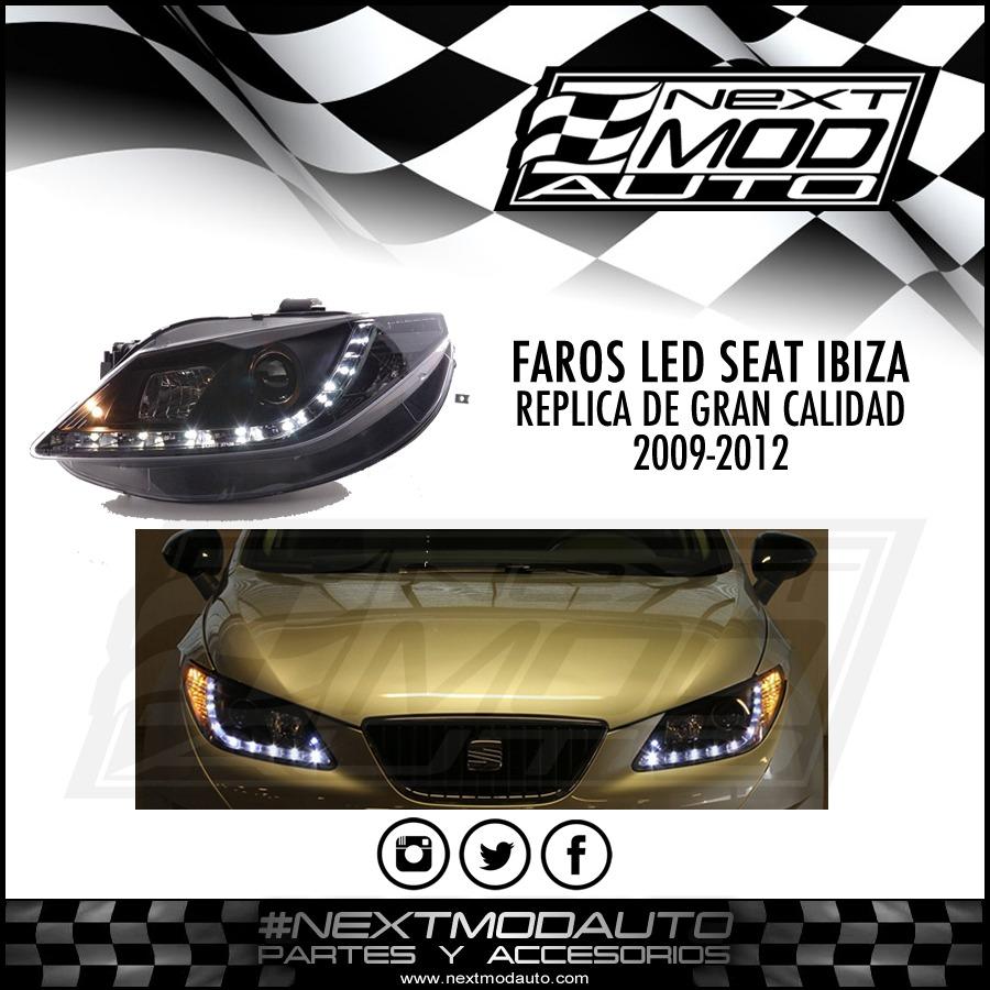 faros led seat ibiza 2009 2012 7 en mercado libre. Black Bedroom Furniture Sets. Home Design Ideas