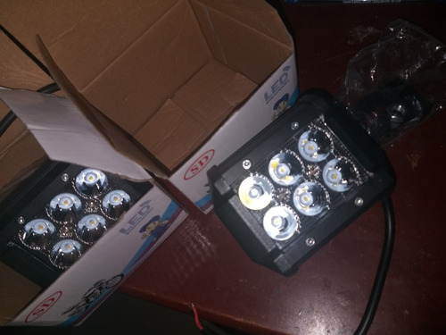 faros luces led 4x4 18w de profundidad