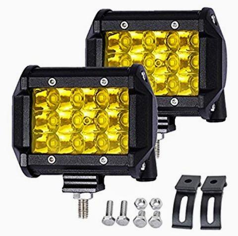 faros luces led amarillas 36w quad row antineblina