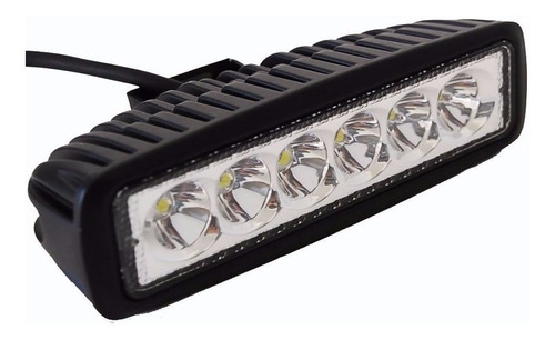 faros, luces, mini barra led slim de 18 watts waterproof