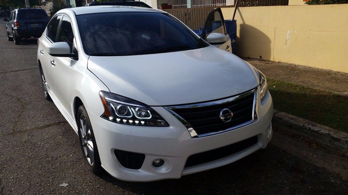 Faros Negros Lupa Led U Nissan Sentra Sr 2013 2014 2015 ...