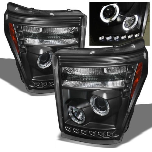 faros negros lupa y led ford f250 f350 f450 f550 2011 - 2016