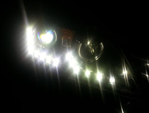faros vw passat b7 led luz de dia xenon