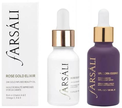 farsali rose gold elixir & unicorn essence primer maquillaje