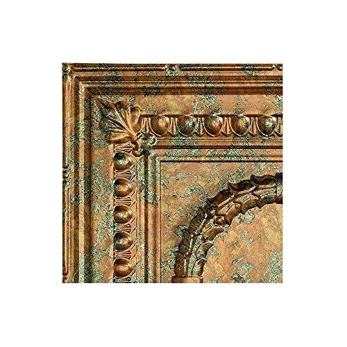 fasade - 2 pies x 4 pies rosette copper fantasy cola de tec