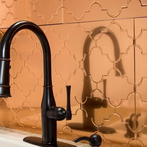 Fasade Easy Installation Monaco Polished Copper Backsplash P