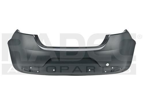 fascia trasera  leon 06-09 p/pintar c/hoyo p/sensor