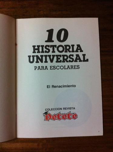 fascículo historia universal para escolares nº10 renacimient