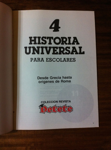 fascículo historia universal para escolares nº4 grecia a rom
