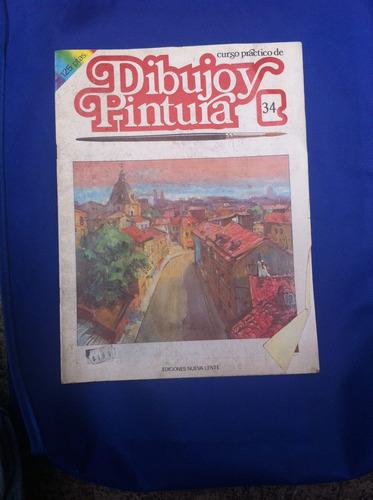 fasciculo nº34 dibujo y pintura  antiguo año 1984