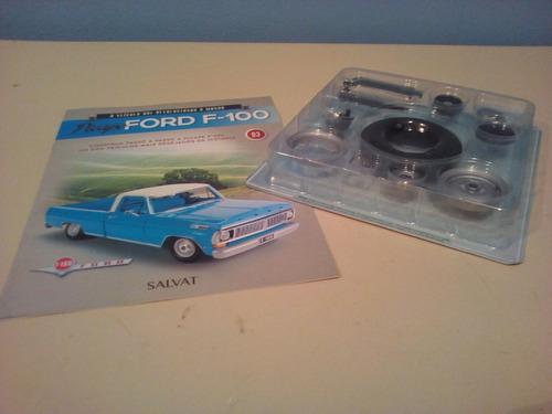 fascículo número 03 ford pick-up f-100 1957 azul 1/8 salvat