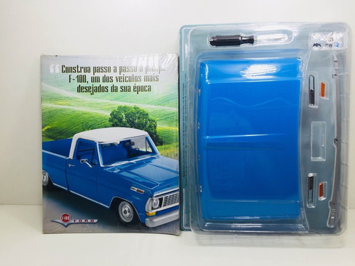 fascículo número 1,2 ford pick-up f-100 1957 azul 1/8 salvat