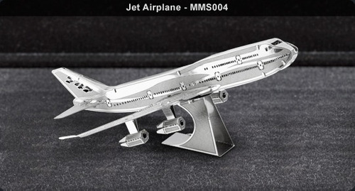 fascinations avión jet boeing 767 rompecabezas 3d metal