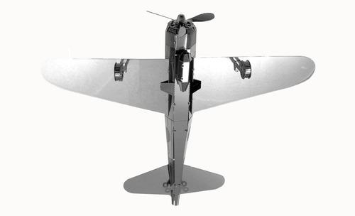 fascinations avión mitsubishi zero rompecabezas metálico 3d