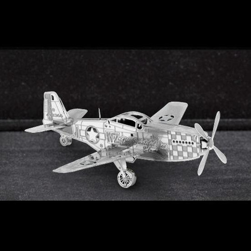 fascinations avion p 51 mustang rompecabezas 3d metal armar