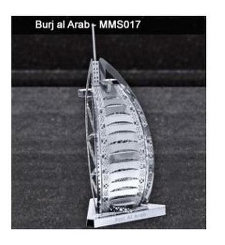 fascinations burj al arab rompecabezas 3d metal puzzle