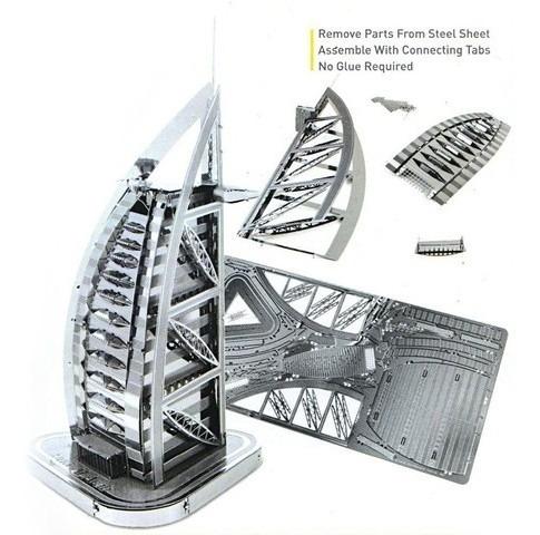 fascinations burj al arab rompecabezas iconx grande 3d metal