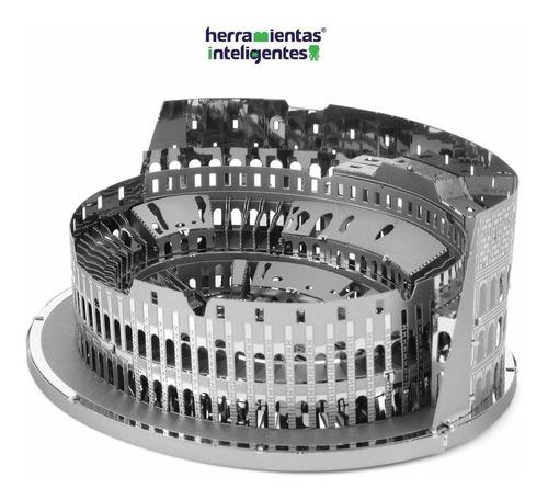 fascinations coliseo roma iconx 3d rompecabezas metal