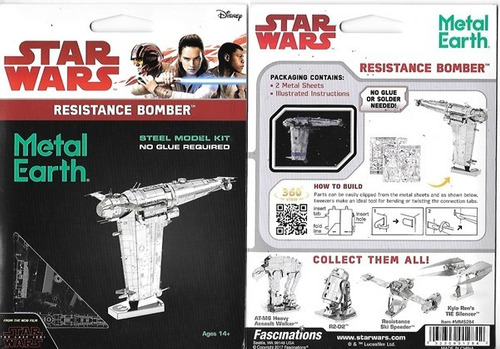fascinations resistance bomber star wars rompecabezas 3d