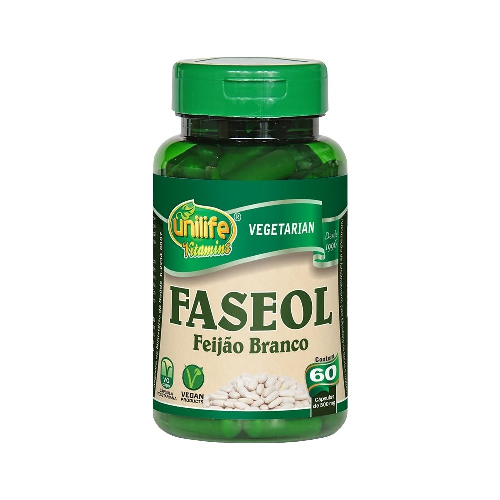 Faseol Faseolamina Feijão Branco 60 Cápsulas Unilife