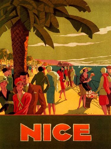 fashion moda pessoas viagem nice praia frança poster repro