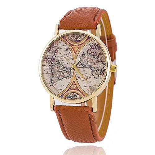 Fashion world map watch leather women watches quartz watches caractersticas gumiabroncs Gallery