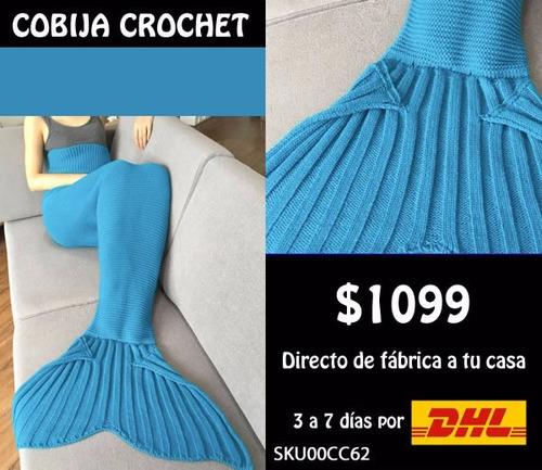 *fashionstore* cobija cola de sirena tejida varios colores a