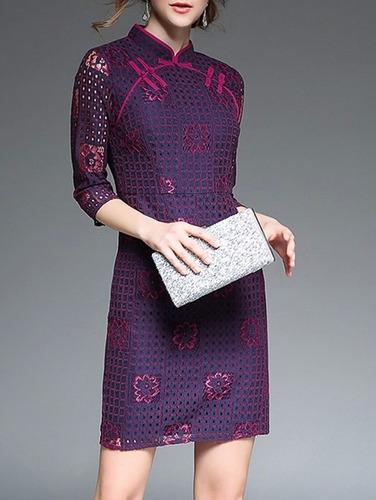 *fashionstore* vestido deluxe estilo kimono violeta r47